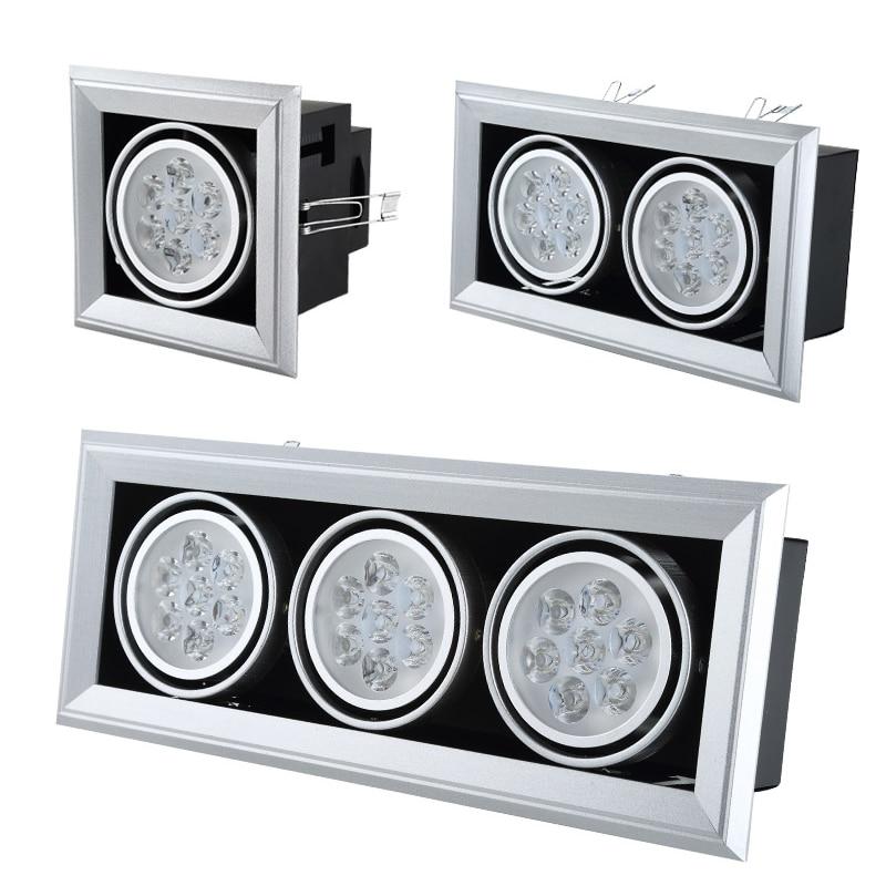 Bodové ledové mřížky světla 2 * 3W 3 * 5W 3 * 12W 110 V 220 V - Vnitřní osvětlení