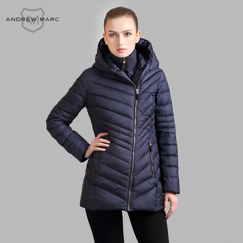 ANDREW MARC 2016 Brand Autumn Winter Jacket Coat Down Women Parkas Mujer for Ladies Winter S