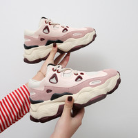 Women's Chunky Sneakers 2019 Spring Summer Winter Sneakers For Women Shoes High Heels Platform Woman Shoes Casual Female Sneaker