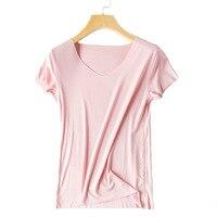 2018 new women's seamless T shirt Korean version of the self cultivation short sleeved bottoming half sleeved shirt