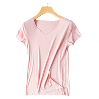 New Women's Seamless T shirt Korean Version Of Self cultivation Short sleeved Bottoming Half sleeved Shirt Basic Solid Color Top
