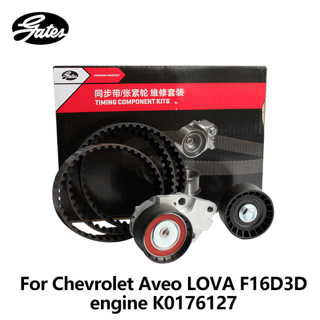 US $46 5 |Gates Car Timing Suit For Chevrolet Aveo 1 4L 1 6L LOVA 1 4 1 6  BUICK Excell 1 6L K0176127-in Timing Components from Automobiles &