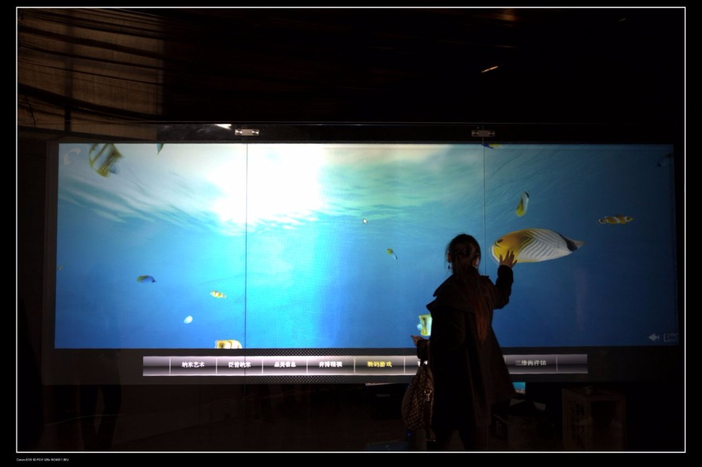 Fast Shipping! 4.5 square meter (1.524m*3m) Transparent rear projection screen film/foil for glass window display