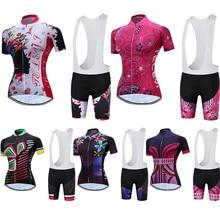 2018 Nyári rövid ujjú Teleyi Szakmai kerékpáros női biciklis ruházat Női bicikli ruházat MTB Maillot Uniform