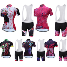 2018 Verano de Manga Corta Teleyi Bike Jersey Mujeres Mujeres Ropa de Ciclismo Ropa de Bicicleta Femenina MTB Maillot Uniforme