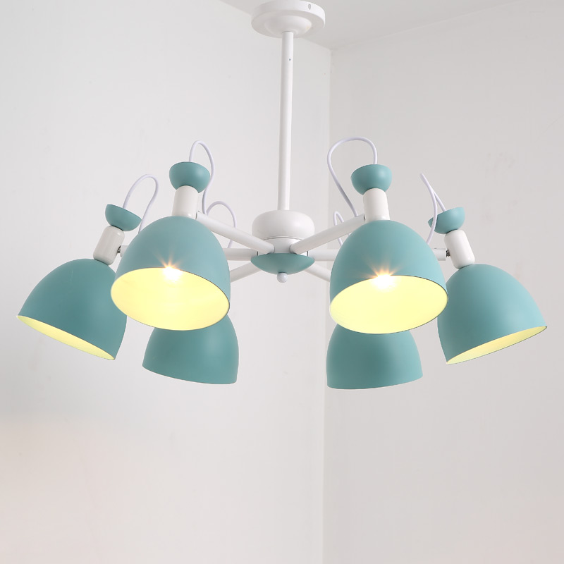 Modern Design Chandelier Lighting Green Iron Lamp Foyer Living Room Kitchen Loft Lustre Decor Home Light Fixture E27 110-220V lustre vintage industry american country loft edison ceiling lamp kitchen dinning living room modern home decor lighting fixture