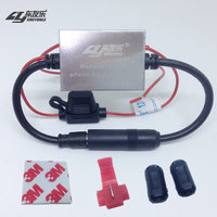 FM Signal Amplifier Anti Interference Metal Car Antenna RadioUniversal Auto FM Booster Amp 88 108 Mhz