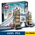 4295pcs New Lepin 17004 Huge Tower Bridge DIY Model Building Blocks unique Drawbridge Toys Sets Compatible with Lego