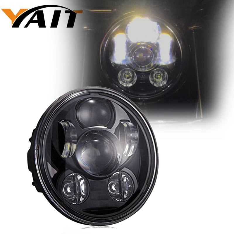 Yait 5.75 Angel Eye DRL Harley Parts Led Moto Headlight Harley Sportster 1200 72 48 883 Daymaker Projector LED Round Headlamp