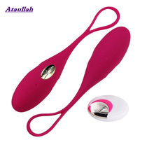 Ataullah Love Egg Vibrator Wireless Remote Powerful Vibrations Control Vibrating G- Spot Sex Toy ST045