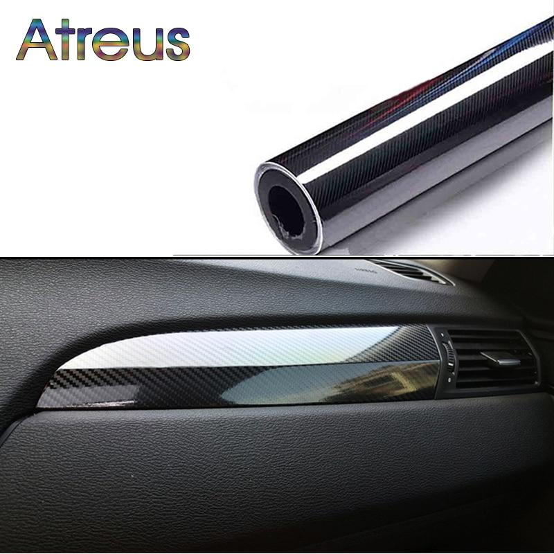 Atreus 4*60'' 5D Carbon Fiber Auto Stickers For BMW X5 E53 E70 X6 X3 X1 F20 Mercedes CLA W204 W211 Audi A3 A6 C6 A4 B8 Q3 Q5 Q7