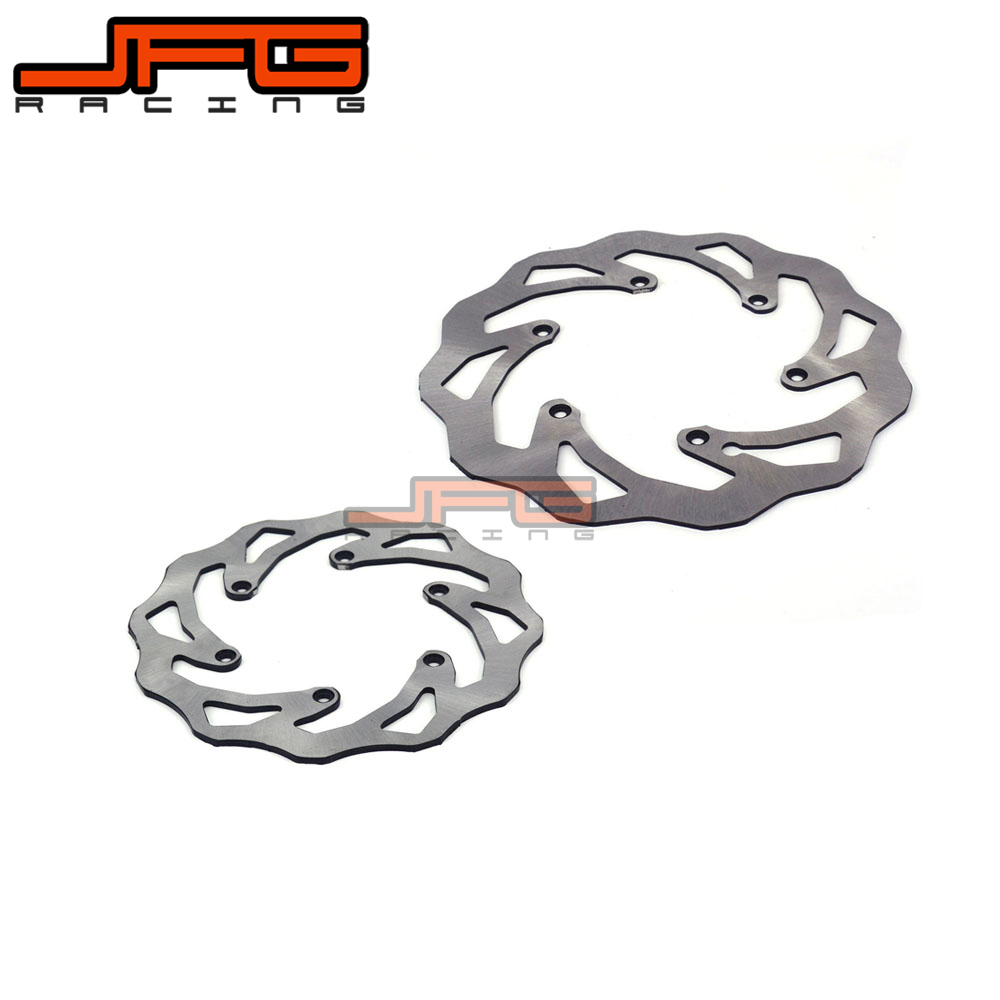 JFG WAVE WAVY REAR 220MM AND FRONT 260MM BRAKE DISCS BRAKE ROTOR FOR KTM SX XC