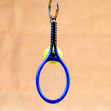 Creative Personality Tennis And Mini Tennis Racket Key Ring Keys Chain Men Women Souvenir Key Holder Gifts 6 Colors(China)