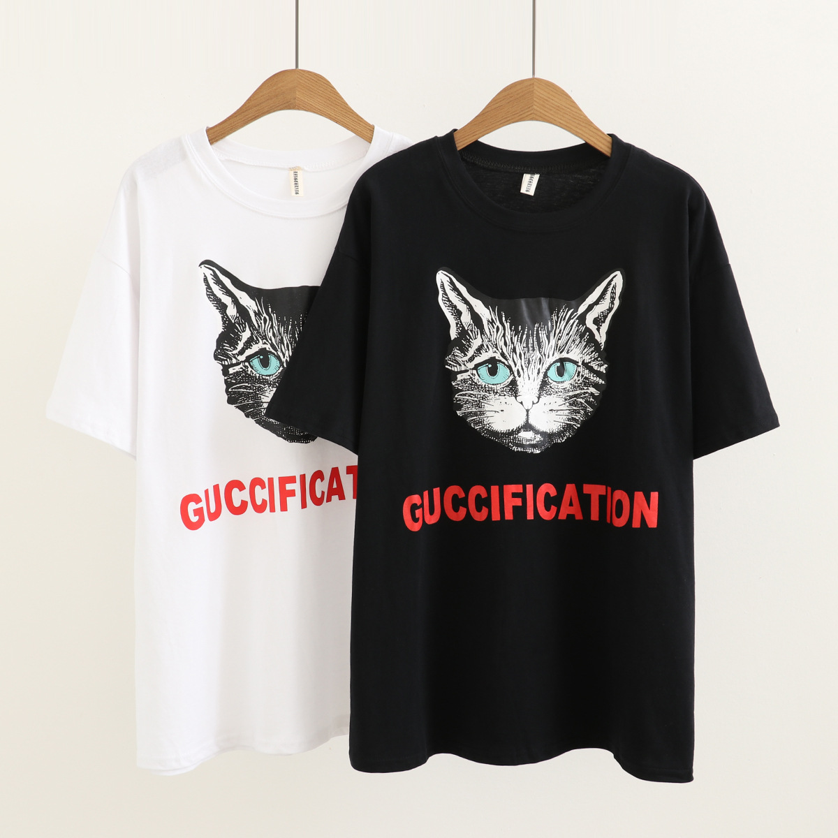 2019 new Fashion Printed  with large, loose and short sleeves T-shirt For Women Freeshipping