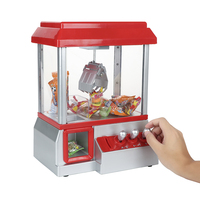 Novelty toy Coin Operated Candy Grabber Doll Candy Catcher Crane Machine Doll Catcher Grabber Machine Kid Xmas Gift