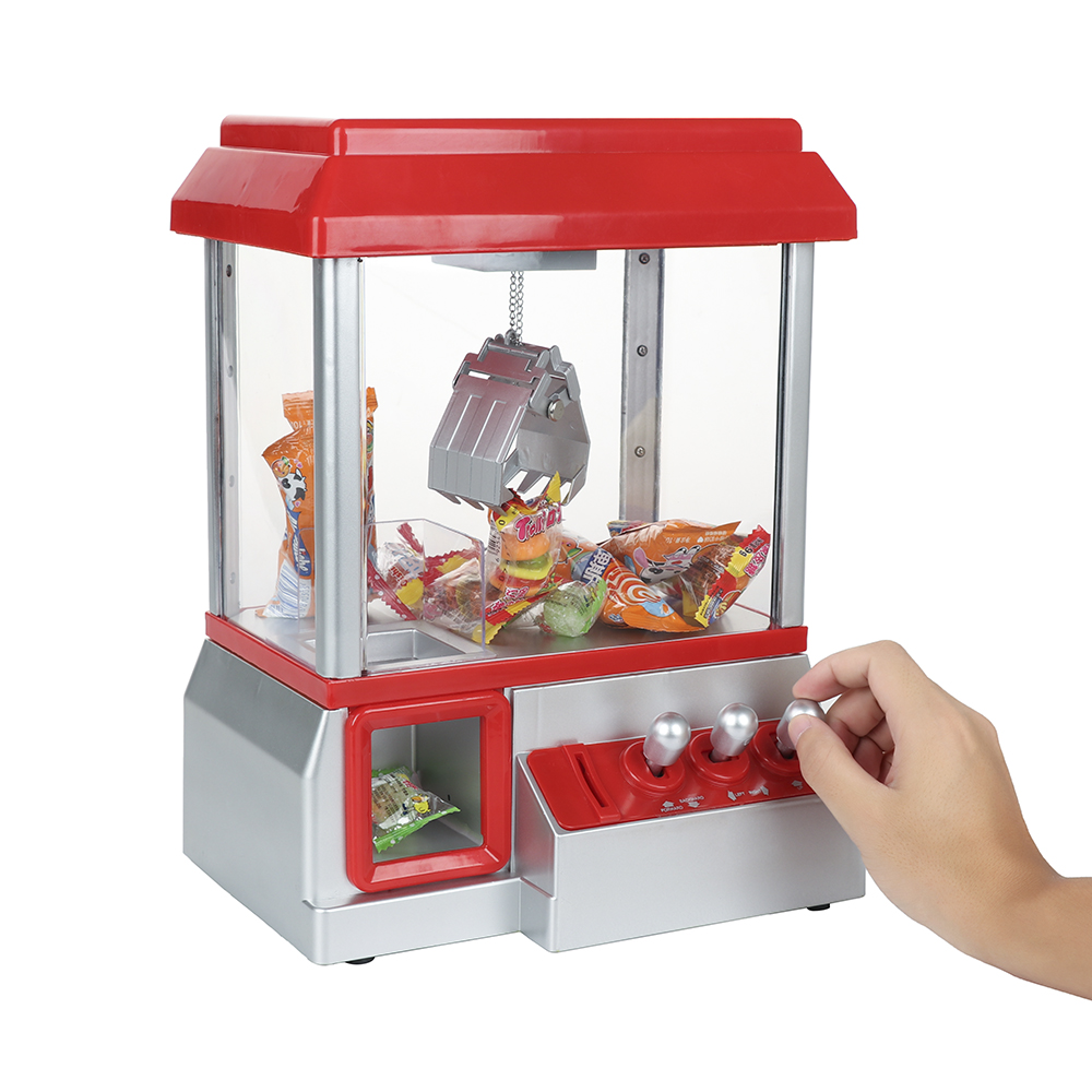Novelty toy Coin Operated Candy Grabber Doll Candy Catcher Crane Machine Doll Catcher Grabber Machine Kid Xmas Gift grabber warmers ultra