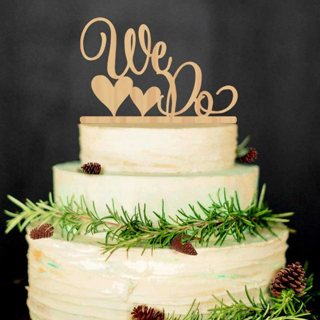 1 pcs Creative Wedding Supplies We Do Wooden Cake Topper Rustic ...