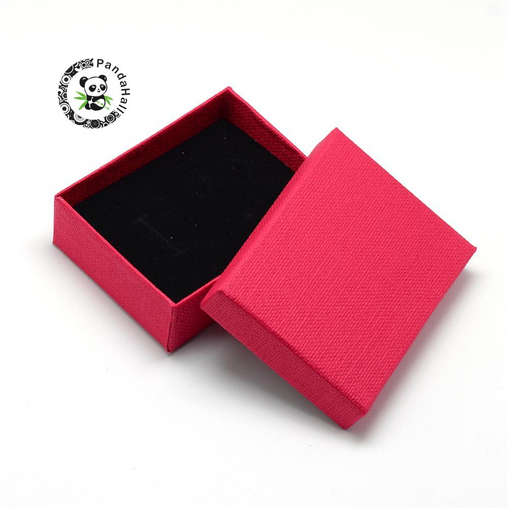 Cardboard Jewelry Set Box For Ring Necklace Rectangle 9x7x3cm
