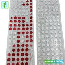 1000 Uds. Etiqueta de sello de seguridad de 3mm 4mm 5mm envío gratis pegatinas sensibles al agua Indicador de agua pegatina engomada al vacío de garantía sellos, etiquetas