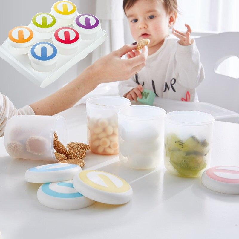 WohltäTig 1 Satz Bpa Frei Baby Lebensmittel Container Lagerung Baby-food-container Durch Wenig Sprießen Wiederverwendbare Stapelbar Lagerung Tassen Mit Tablett Mutter & Kinder