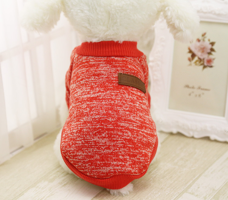 Classic Warm Dog Clothes Puppy Pet Cat Jacket Coat Winter Fashion Soft Sweater Clothing For Small Dogs Chihuahua XS-2XL 25S1 12
