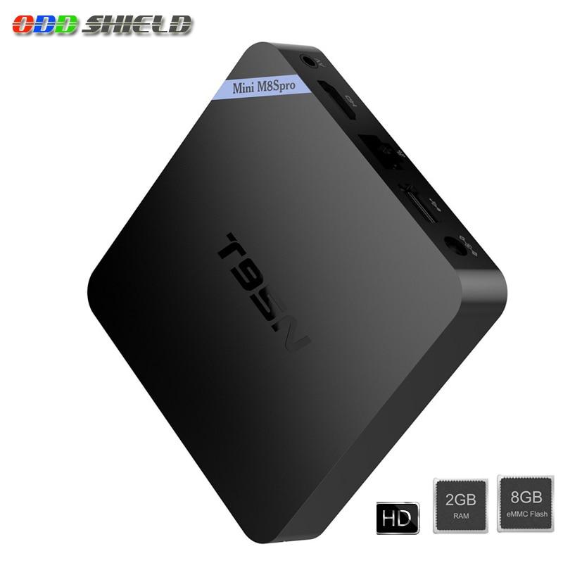 T95N Mini M8S PRO Smart TV Box Android 6.0 Amlogic S905X Quad Core Support HEVC 4K H.265 RAM 2G eMMC 8G ROM Media Playe new t95n mini m8s pro android 6 0 tv box s905x quad core bluetooth wifi 16 0 2g 8g memory smart set top box emmc ddr3