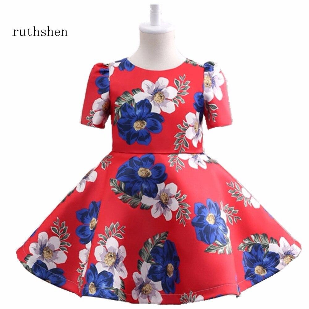 ruthshen Real Photos Beautiful   Flower     Girl     Dress   Cute Ball Gown Zipper Back Kids Pageant Children   Dress   2018