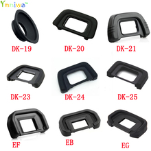 10 teile/los DK 19 DK 20 DK 21 DK 23 DK 24 DK 25 EF EB ZB EC DK 5 Gummi Eye Cup Okular für nikon canon SLR Kamera