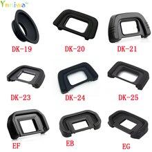 10pcs/lot DK 19 DK 20 DK 21 DK 23 DK 24 DK 25 EF EB EG EC DK 5 Rubber Eye Cup Eyepiece Eyecup for nikon canon SLR Camera