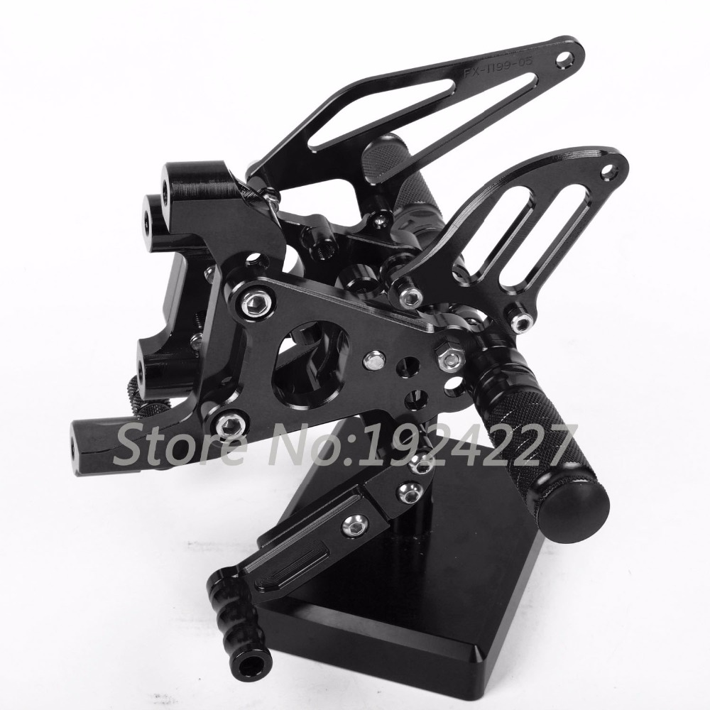Motorcycle Footrest Adjustable Foot Pegs Rearsets For Ducati Panigale 1199 1199iS 1199R 2012-2013 Hot Motorcycle Foot Pegs Black