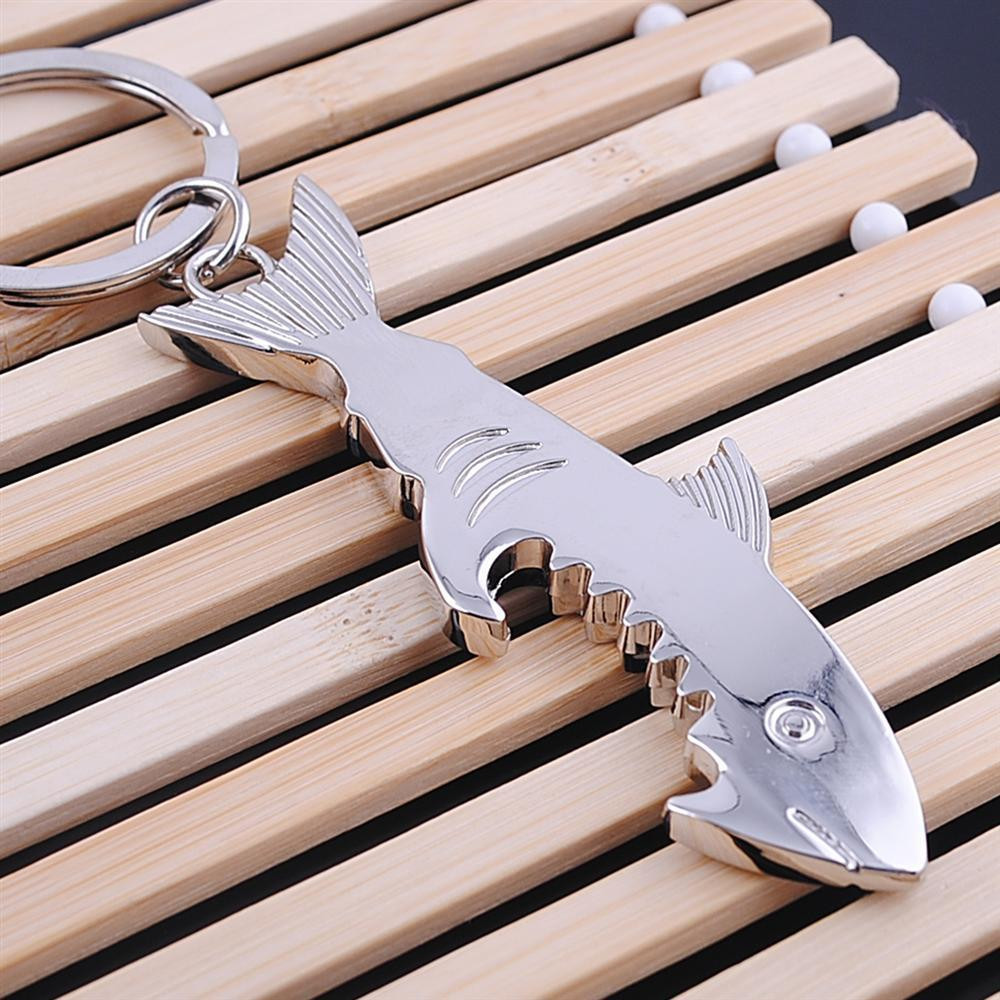 """Drunk Shark"" Shark Bottle Opener Key Chain 2"