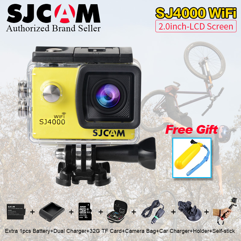 sjcam sj5000 plus ambarella a7ls75 sport camera Original SJCAM SJ4000 wifi waterproof Action Camera Diving 30M 1080P Full HD Underwater Mini sj 4000 M10 plus Sport Cam Sport DV