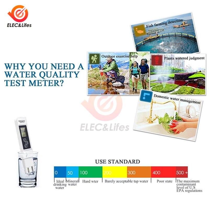 TDS EC метр тестер температуры Ручка 3 в 1 Функция проводимость вода инструмент измерения качества TDS & EC Тестер 0-9990ppm 15%