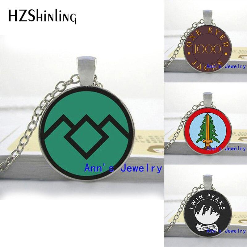 HZShinling Art Glass Pendant Twin Peaks Necklace Twin Peaks Bookhouse Boys Glass Photo Pendant Necklace Glass Round Necklace HZ1