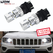 Ijdm escondeu branco 3157 led p27/5 w p27/7 w t25 lâmpadas led para luzes diurnas, drl para 2011 e até jeep grand cherokee