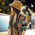 Free shipping natural color woven straw hat , fashion lady Bohemia summer sun hat