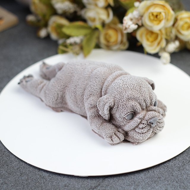 Cute Dog Silicone Mold Mousse Cake 3d Shar Pei Mould Ice Cream Jello