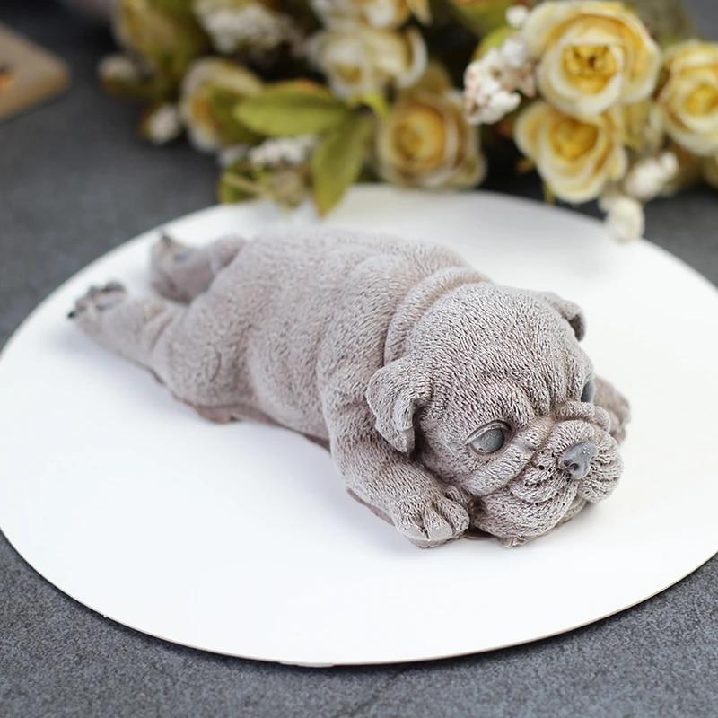3D Cute Shar Pei Dog Silicone Mold Mousse Cake Ice Cream Jello Mousse Blast Chilling Tool Fondant Decoration Soap Candle Mould