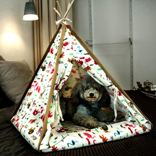 Foldable Dog Cat House Kennel Pet Tent Easy Operation Dog Bed Sleeping Mat Portable Indoor Outdoor Pet Travel Supplies Dog Bed