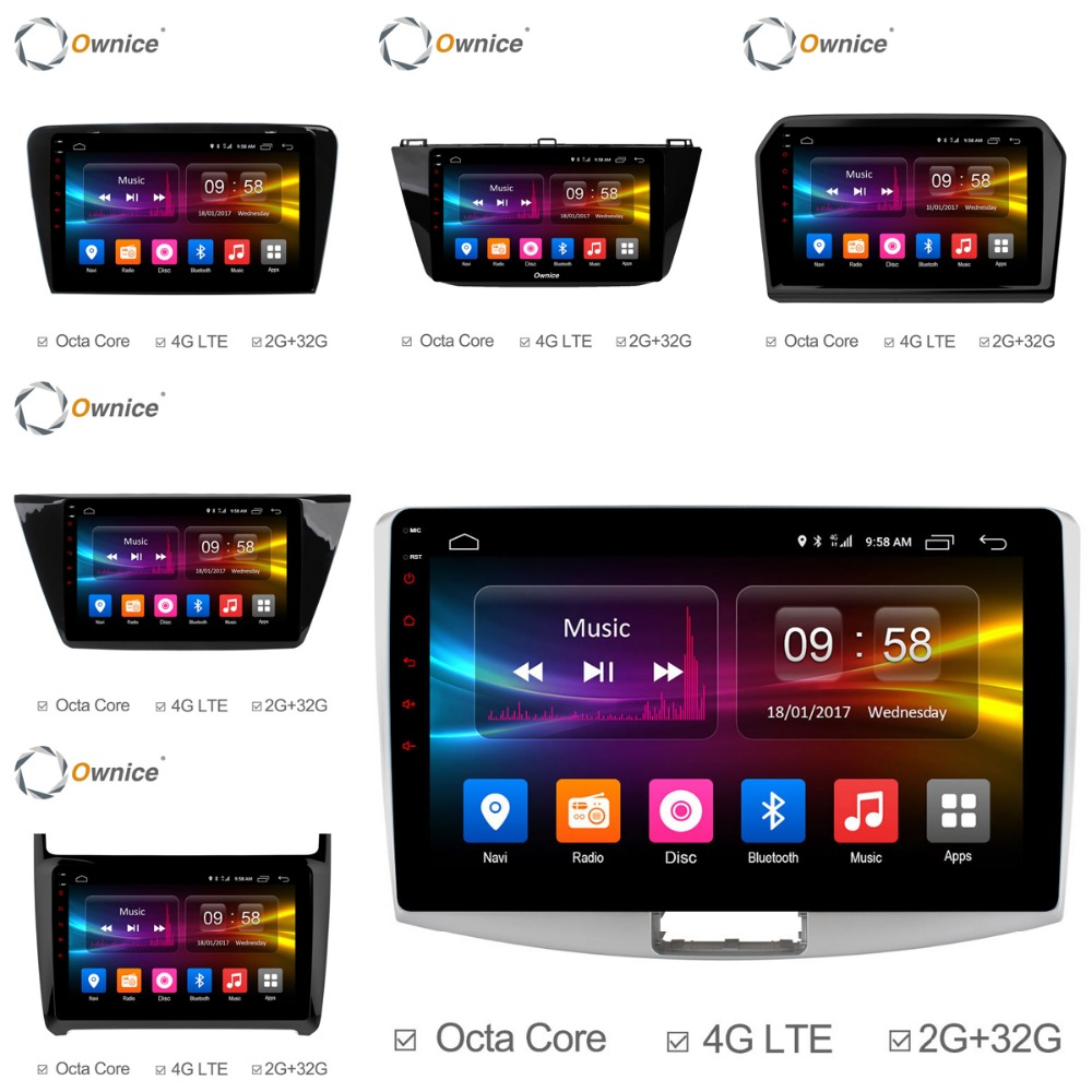 Ownice Octa Core 10.1/9 Android 6.0 Car Radio DVD player GPS For VW Magotan POLO PASSAT Golf 7/R/GTE Tiguan Touran Jetta Fabia android car radio gps multimedia video audio player for volkswagen vw magotan polo passat golf 7 r gte tiguan touran jetta polo