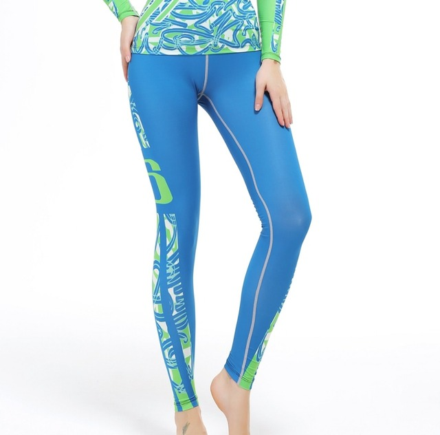 30f99b7d4468a 2016 Blue Running Pants Joggers sublimation women Gym Wear Workout Fitness  Leggings Jogging Sports Slim Sportswear New