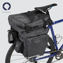 3 in 1 Waterproof Bicycle Bag Polyester Mountain Road Bike Bags Riding Cycling Double Side Rear Rack Tail Seat Trunk Pannier