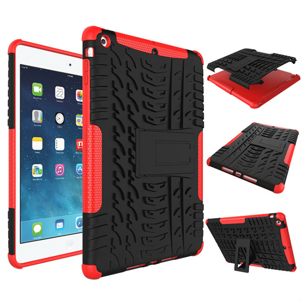 For Apple iPad 6 Tablet Case TPU and PC Shockproof Anti-knock with Kickstand Rugged Armor for iPad Air 2 9.7inch