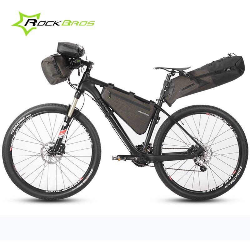 Bicycle Bag Bundle Front Bag Handlebar Basket Top Tube Pack Travel Cycling Rear Seat Saddle Bag