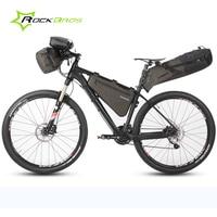 Rockbros Waterproof Bicycle Bag Bike Front Bag Handlebar Basket Top Tube Pack Travel Cycling Rear Seat Saddle Bag Accessories