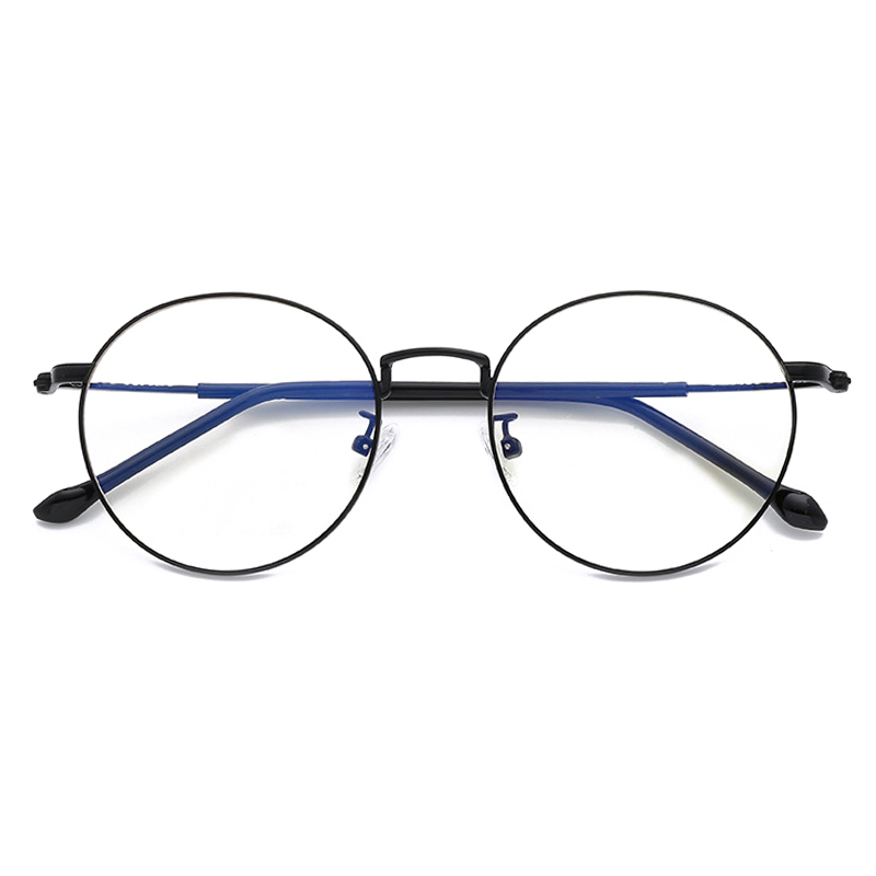 Fashion Metal Vintage Frame Glasses Computer Eyeglass Frame Fake Glasses Eye Glasses Frames Reading Glass Clear Lens Alloy