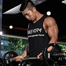 New fashion cotton sleeveless shirt vest mens fitness bodybuilding gyms men