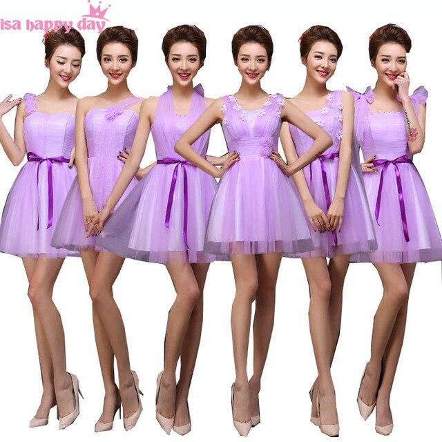 8764435713 Vestidos de damas de honor corto lila cariño tul país dama de honor  vestidos de lavanda