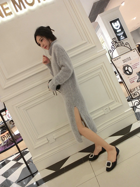 mink cashmere sweater women long cashmere pullovers knitted pure customized mink cashmere    color free shipping S1898