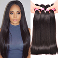 "Straight Brazilian Hair Weave Bundles 8""-28"" Brazilian Straight Hair 4 Bundles Brazilian Virgin Hair Straight Human Hair Bundles"